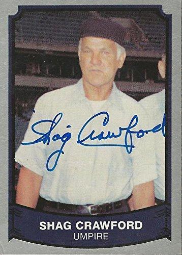 Shag Crawford Signed Trading Card Mlb Umpire Mlb