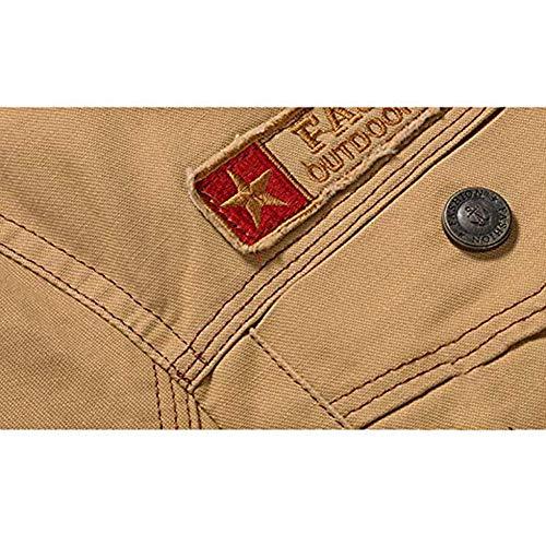 Chaud Veste Bouton 5xl Manche Noir Noir Blouson Longue Vintage Épais Militaire Homme Casual Manteau Caidi Ixqnd7I