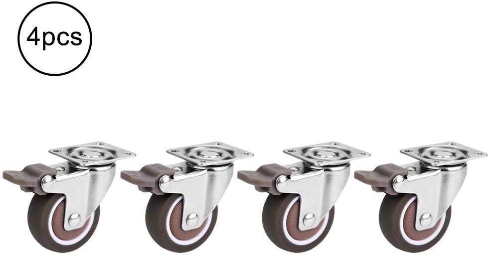 4pcs Ruote girevoli del perno Ruote in gomma resistenti per la sostituzione della mobilia domestica Mit Bremse