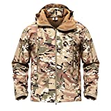 Meetloveyou Military Jacket Men Softshell Waterpoof Camo Clothes Tactical Camouflage Army Hoody Jacket Male Winter Coat CP XS