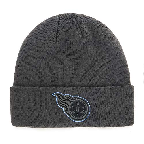 OTS NFL Tennessee Titans Male Raised Cuff Knit Cap, Charcoal, One Size