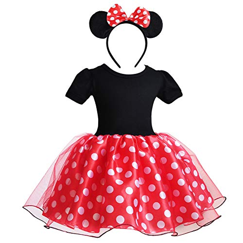 Father And Daughter Halloween Costumes - Little Girl Minnie Costume Polka Dot