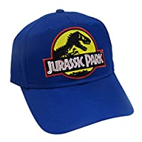 Jurassic Park Movie Logo Yellow Sci Fi Patch Snapback Royal Cap Hat by Project T