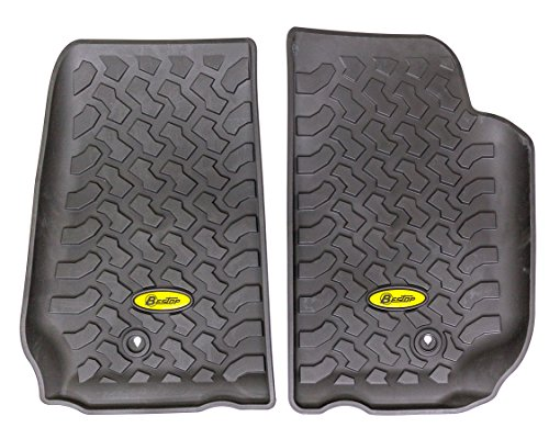 Bestop 51500-01 Front Pair of Floor Mats for 2007-2013 Wrangler 2-Door & 4-Door