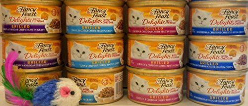 Purina Fancy Feast Delights with Cheddar 3oz Can Variety Com