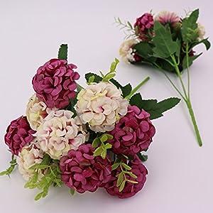 FYYDNZA Artificial 10 Head Hydrangea Simulation Flower Start Wedding Decoration Party Flowers Crown Bridal Bouquet Silk,3,Length 42Cm 69