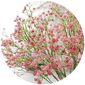 Chibi-store 80 Mini Heads 1PC DIY Artificial Baby's Breath Flower Gypsophila Fake Silicone Plant for Wedding 90