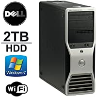 Dell Precision T3500 Workstation - Intel Quad Xeon 2.5GHz - 12GB DDR3 RAMNEW 2TB HDD, Dual Monitor Capable- WiFi - DVD/CD-RW - Windows 7 Professional 64Bit- Refurbished