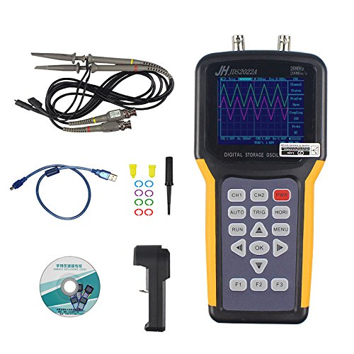 Jinhan JDS2022A Double-Channel Handheld Digital oscilloscope 20MHz Bandwidth 200MSa/s Sample Rate,Automotive oscilloscope