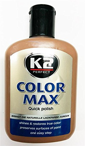 Car Paint Brown Color Polish Restores Shines Fills Scratch Stone Chips (Carnauba Protection)