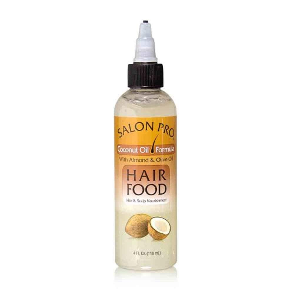 Salon Pro Hair Food, Coconut Oil With Almond & Olive Oil, 4 Ounce