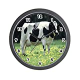 CafePress – Holstein Cow – Unique Decorative 10″ Wall Clock For Sale