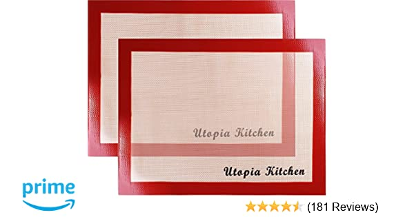 Amazon Utopia Kitchen Silicon Mat For Baking And Cooking 2