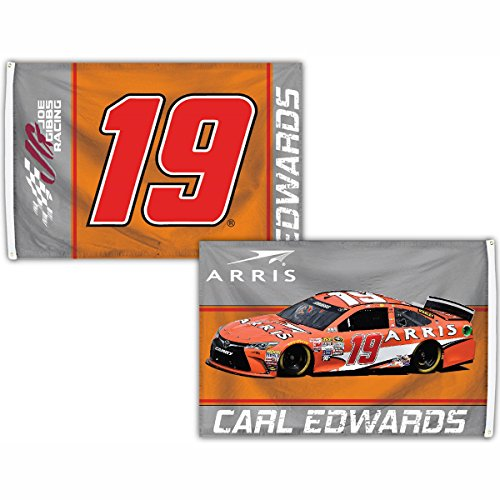 Carl Edwards #19 Deluxe 2-SIDED 2016 3x5 SIGNATURE Flag w/grommets Outdoor Banner Nascar Racing