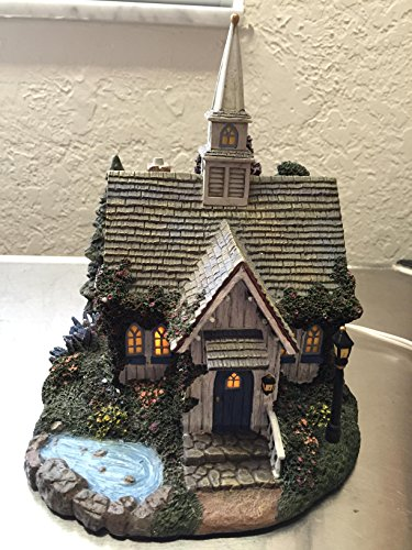 Media Arts Hawthorne Village Seaside Chapel Light Up House by Thomas Kinkade