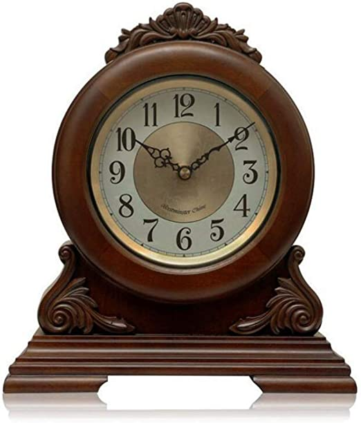 GongDi Reloj de Mesa Mantel Relojes de Madera Maciza Europea Retro ...