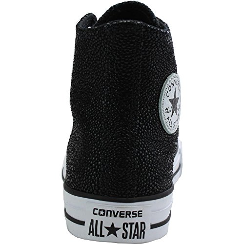 Hi Stingray Leather Chuck Converse Black Trainers All Star Taylor Metallic Black qxBcHZYwa