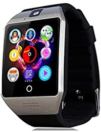 Smart Watch with Camera, TechFaith Q18 Bluetooth Smartwatch with Sim Card Slot Fitness Activity Tracker Sport Watch for Android Smartphones (Silver)