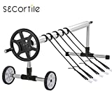 #4: S&Cortile Swimming Pool Cover Reel Up to 21' Wide Stainless Steel Inground Aluminum Solar Cover