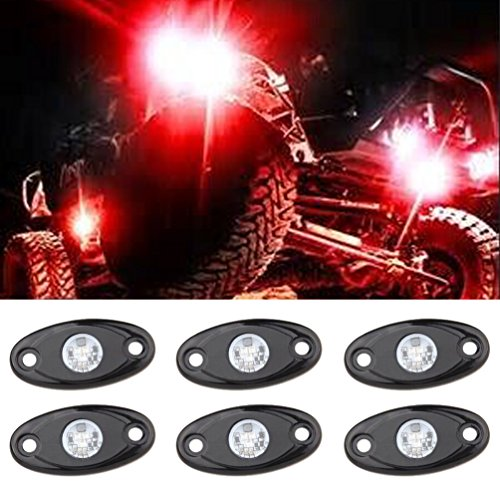 (LED Rock Light Kits with 6 pods Lights for Off Road Truck Car ATV SUV)