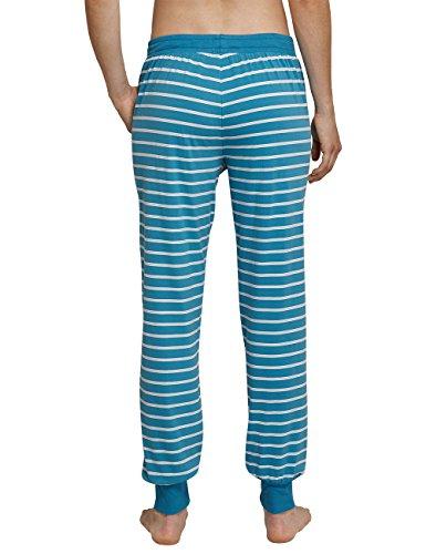 Schiesser Mix & Relax Jerseyhose Lang, Pantalones de Pijama para Mujer azul (atlantikblau 899)