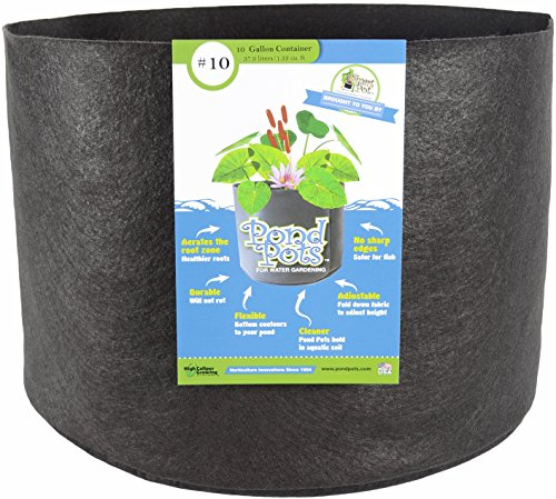 Smart Pots Pond Flexible Aquatic Plant Container for Water Gardening, 10 Gallon