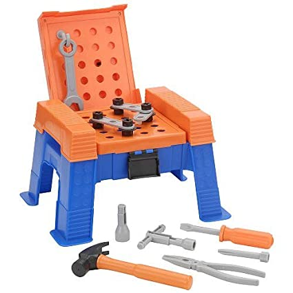 amazon com the home depot step stool work bench playset toys games
