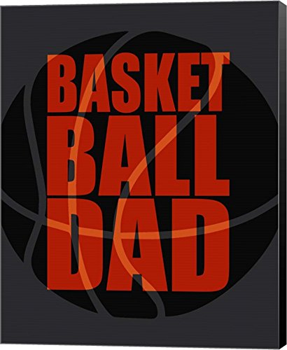 Basketball Dad by Sports Mania Canvas Art Wall Picture, Museum Wrapped with Black Sides