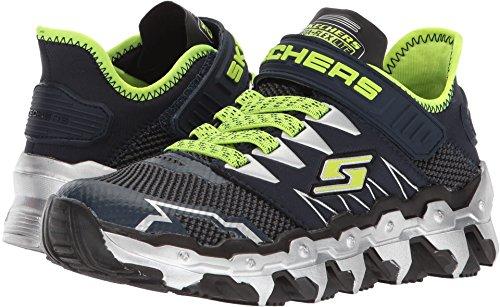 5c627ab4877 Galleon - Skechers 97562L Boy's Mega Flex: Mega Blade Lite Shoes, Navy/Lime  - 1.5