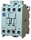 Allen Bradley 100-C23L10 3 pole, 23 AMP contactor with a 208-240 volt 50/60Hz AC coil and 1 normally open base mounted contact