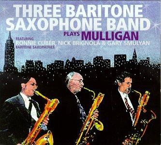 Three Baritone Saxophone Band Plays Mulligan