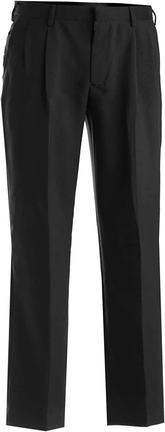 Edwards Mens Wrinkle Resistant Pleated Pant 44 29 Black