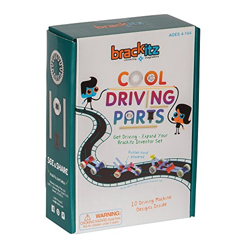 Brackitz Driver Parts Expansion Set:  Kids Vehicle Building Set | STEM Educational Construction Toy | Ages 4 and Up | 19 Pc Set