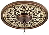 Madrid Clay 16″ Wide Bronze Finish Ceiling Medallion For Sale
