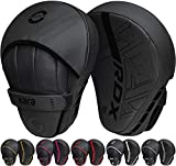 RDX Boxing Pads Curved Focus Mitts, Maya Hide Leather Kara Hook and jab Training Pads, Adjustable Strap Ventilated, MMA Muay Thai Kickboxing Coaching Martial Arts Punching Hand Target Strike Shield