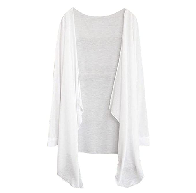 Tefamore Summer Women Long Thin Cardigan Sun Protection Tops (A)   Amazon.co.uk  Clothing cf24b38eb