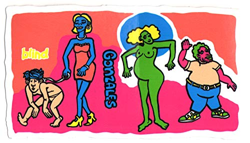 Blind - Mark Gonzales - Colored People Skateboard Sticker. 12cm Wide Approx. Skate Snow surf Board BMX Skateboarding Video Days