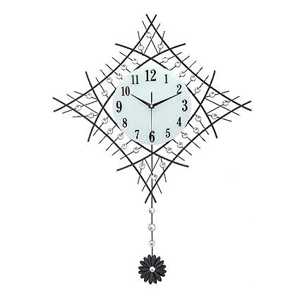 26-inch creative silent easy to read wall clock quartz movement swinging pendulum  clock bedroom