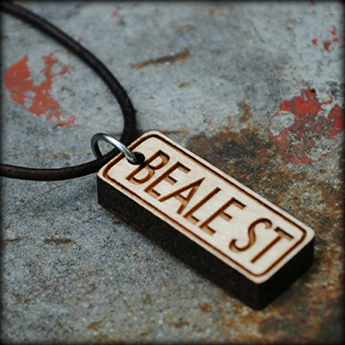 Wooden Beale Street Sign Necklace