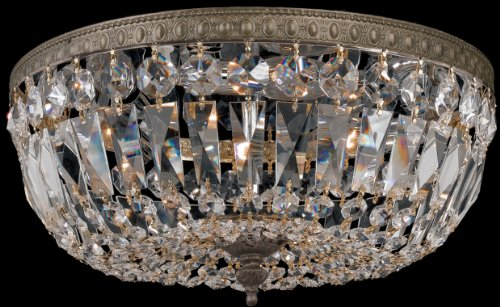 Crystorama 712-EB-CL-MWP Crystal Three Light Ceiling Mounts from Richmond collection in English, Bronze from Crystorama