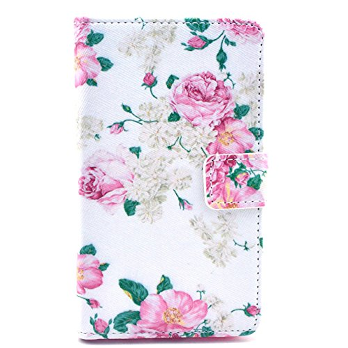 For Nokia Lumia 625 Case , IVY Pink Flowers Graphic, Cute Fashion Magnetic Snap Synthetic Leather Wallet Card Flip TPU With Stand Cover Case For Nokia Lumia 625