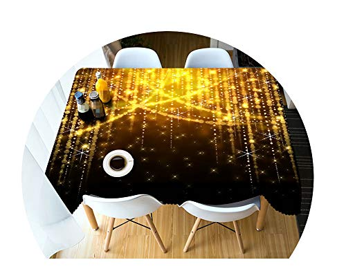 COOCOl Great 3D Tablecloth Christmas Color Line Fireworks Washable Cloth Thicken Rectangular Round Table Cloth,C,180 X 270Cm ()