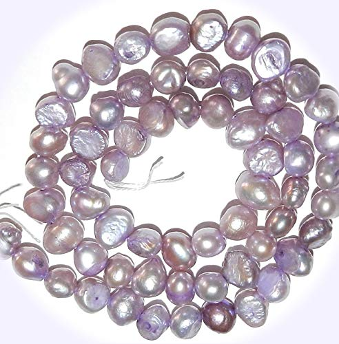 Violet Freshwater Cultured Pearl - New Violet Purple 6mm - 7mm Cultured Freshwater Flat-Sided Potato Pearl Jewelry-Making Beads DIY Craft Supplies for Handmade Bracelet Necklace
