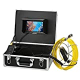 Pipe Inspection Video Camera, Lixada 20M / 30M IP68 Waterproof Drain Pipe Sewer Inspection Camera with 7'' LCD Monitor 12 LEDs Night Vision Industrial Endoscope Borescope Inspection System Snake Camera