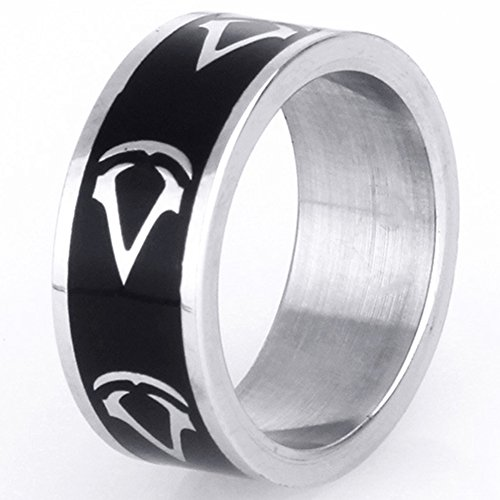 Retro Jewelry Cool Men's Titanium Steel Gothic Rings Vintage Classic Punk Style Gothic Stainless Steel Rings for Men