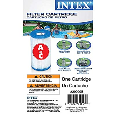 (Pack of 6) Intex 29000E/59900E Easy Set Pool Replacement Type A or C Filter Cartridge : Swimming Pool Cartridge Filters : Garden & Outdoor