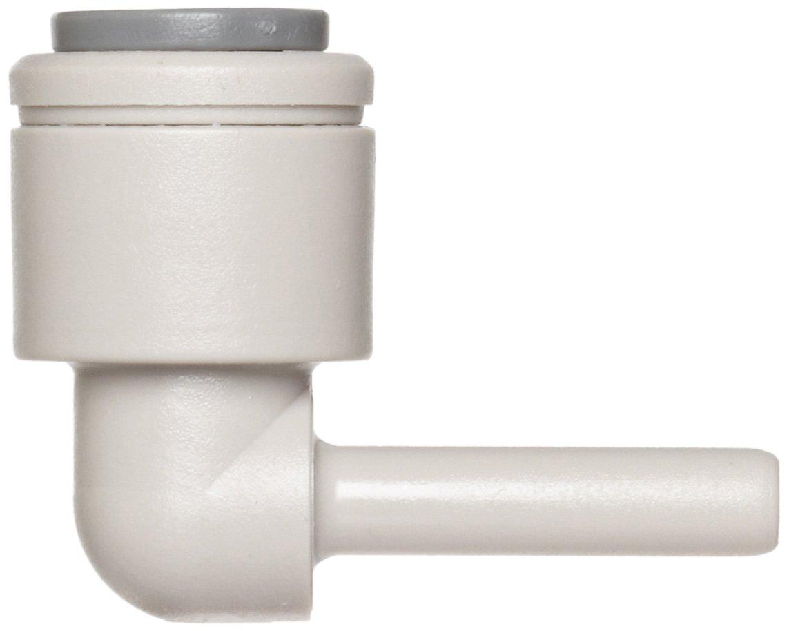 Plug-In 90 Degree Elbow 3//8 Tube OD x 3//8 Stem OD John Guest Acetal Copolymer Tube Fitting 3//8 Tube OD x 3//8 Stem OD Pack of 10 PI221212S Pack of 10