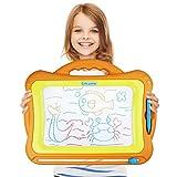 Magnetic Drawing Board - Kids Magna Doodle Erasable Writing Sketch Board Pad Large Writing Area-Orange