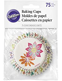 Investment 415-7909 Wilton Spring Flowers Baking Cups, 75-Count dispense