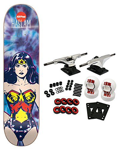 ALMOST X DC COMICS COLLAB WONDER WOMAN TIE DYE Complete Skateboard HASLAM 7.75